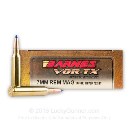 Image 1 of Barnes 7mm Remington Magnum Ammo