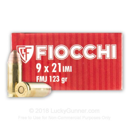 Image 1 of Fiocchi 9x21mm IMI Ammo