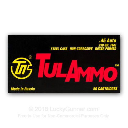 Image 6 of Tula Cartridge Works .45 ACP (Auto) Ammo