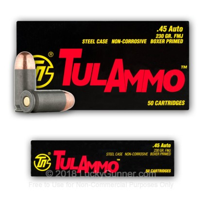 Image 8 of Tula Cartridge Works .45 ACP (Auto) Ammo