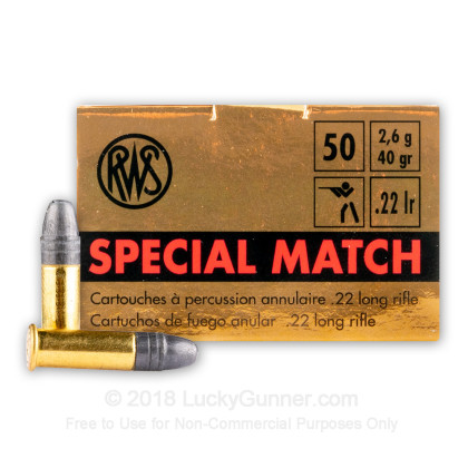 Image 1 of RWS .22 Long Rifle (LR) Ammo