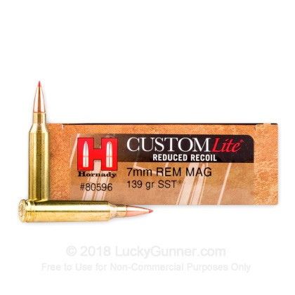 Image 1 of Hornady 7mm Remington Magnum Ammo