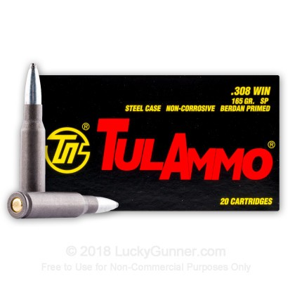 Image 1 of Tula Cartridge Works .308 (7.62X51) Ammo