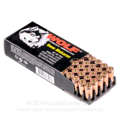 Image 3 of Wolf 9mm Makarov (9x18mm) Ammo