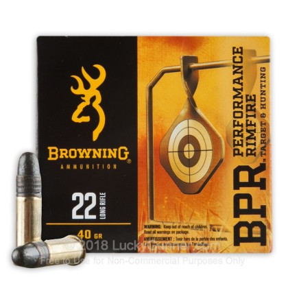 Image 2 of Browning .22 Long Rifle (LR) Ammo