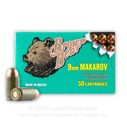 Image 1 of Brown Bear 9mm Makarov (9x18mm) Ammo