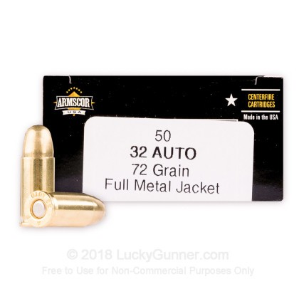 Large image of Bulk 32 ACP Ammo For Sale - 72 Grain FMJ Ammunition in Stock by Armscor USA - 1000 Rounds