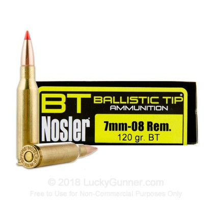 Image 1 of Nosler Ammunition 7mm-08 Remington Ammo