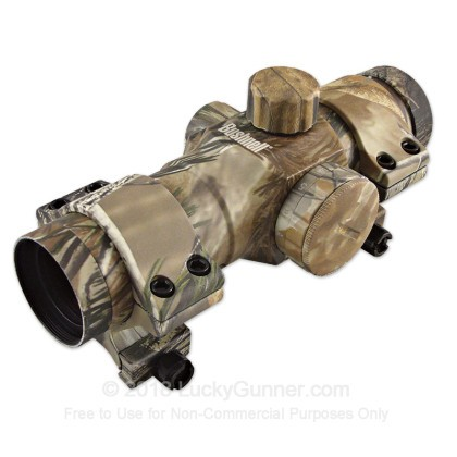 Large image of Rifle Scope For Sale - Trophy Red Dot - 730131APG - 6 MOA Red Dot - Realtree AP Bushnell Optics Rifle Scopes in Stock