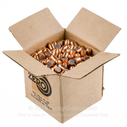 "Large image of Premium 45 ACP (.451"") Bullets for Sale - 230 Grain FMJ Bullets in Stock by Zero Bullets - 500 Projectiles"
