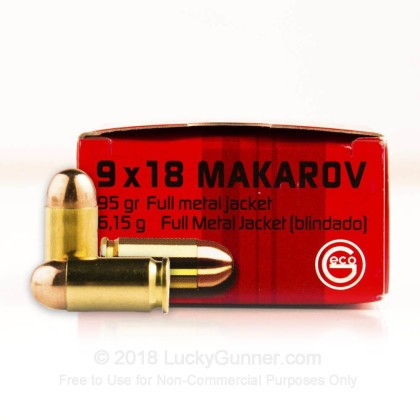 Image 1 of GECO 9mm Makarov (9x18mm) Ammo