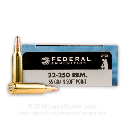 22 250 ammo for sale 55 gr sp federal power shok ammo online