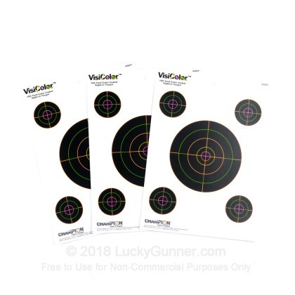 Large image of Champion VisiColor 5 Bull's Eye Targets For Sale - Reactive Indicator Targets In Stock