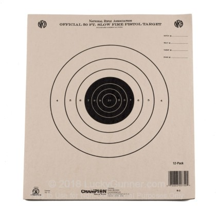 Large image of Champion Targets For Sale - 50 Foot NRA Slow Fire Pistol Targets - 12 Pack