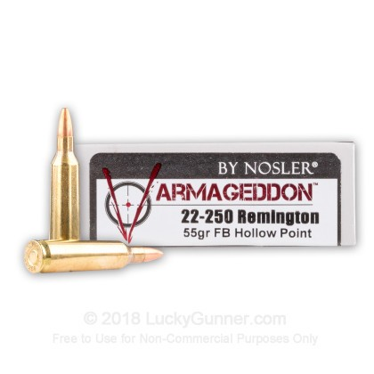 Image 1 of Nosler Ammunition .22-250 Remington Ammo
