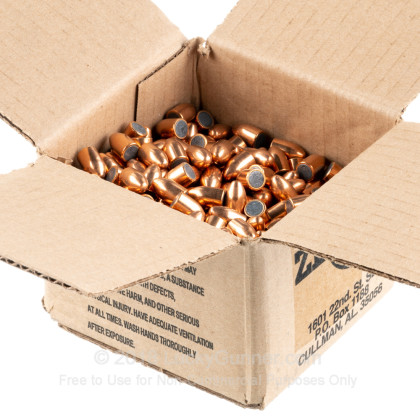 "Large image of Premium 38 Super (.356"") Bullets for Sale - 125 Grain FMJ Bullets in Stock by Zero Bullets - 500 Projectiles"