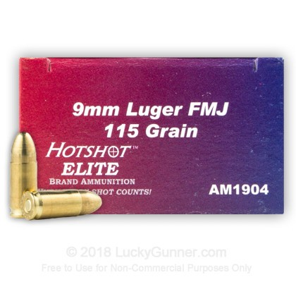 Image 1 of Hotshot Ammunition 9mm Luger (9x19) Ammo