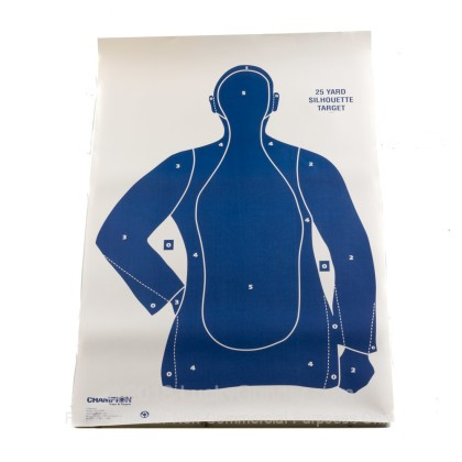 Large image of  Cheap Targets - Champion - Blue B21-E LE Paper Silhouette In Stock - 100 Targets