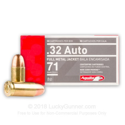 Large image of 32 ACP Ammo For Sale - 71 gr FMJ Aguila Ammo Online