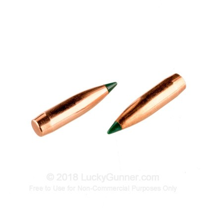 Large image of Bulk 223 Rem (.224) Bullets for Sale - 69 Grain Polymer Tip Bullets in Stock by Sierra - 100