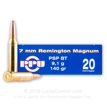 Image 2 of Prvi Partizan 7mm Remington Magnum Ammo