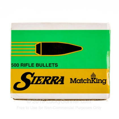 Large image of Bulk 308 Win (.308) Bullets for Sale - 155 Grain HPBT Bullets in Stock by Sierra - 500