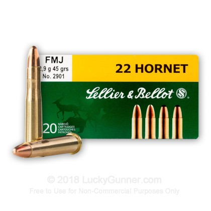 Image 1 of Sellier & Bellot .22 Hornet Ammo