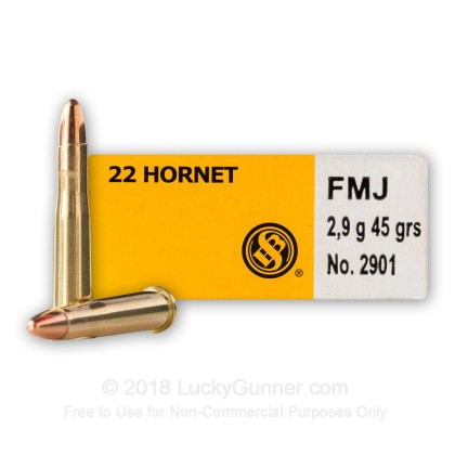 Image 2 of Sellier & Bellot .22 Hornet Ammo