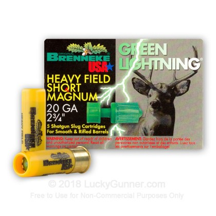 Image 1 of Brenneke Slugs 20 Gauge Ammo
