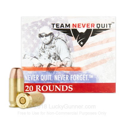 Image 2 of Team Never Quit .45 ACP (Auto) Ammo