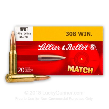 Image 1 of Sellier & Bellot .308 (7.62X51) Ammo