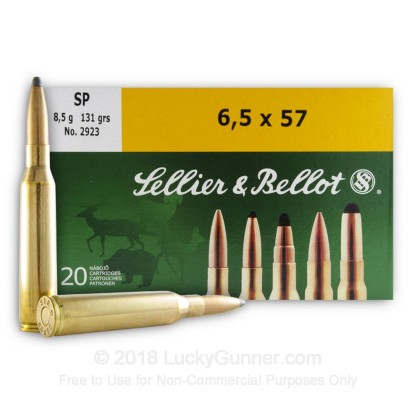 Image 2 of Sellier & Bellot 6.5x57 Mauser Ammo