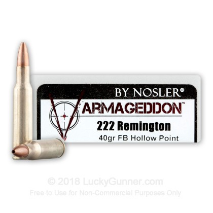 Image 1 of Nosler Ammunition .222 Remington Ammo