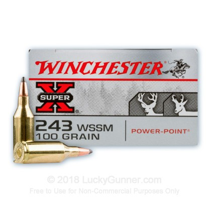 Image 1 of Winchester .243 WSSM Ammo