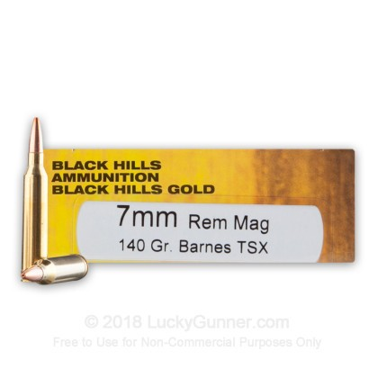 Image 1 of Black Hills Ammunition 7mm Remington Magnum Ammo