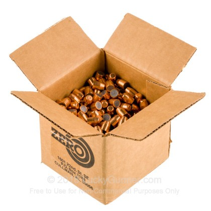 "Large image of Premium 40 S&W (.400"") Bullets for Sale - 165 Grain FMJ-TC Bullets in Stock by Zero Bullets - 500 Projectiles"