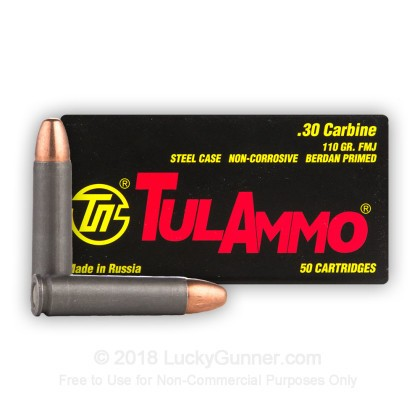 Image 3 of Tula Cartridge Works 30 Carbine Ammo