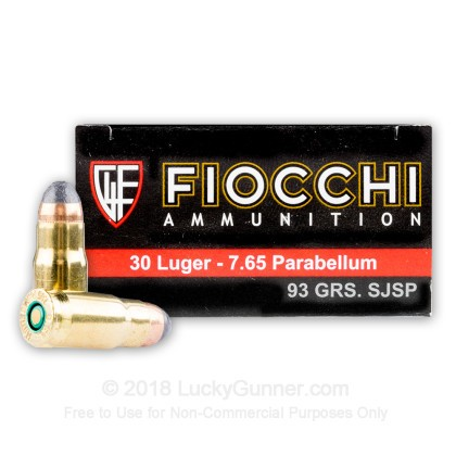 Large image of Cheap .30 Luger  - 93 gr SJSP - Fiocchi - 50 Rounds
