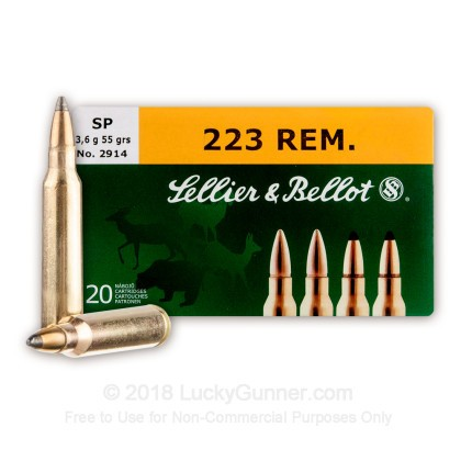 Image 1 of Sellier & Bellot .223 Remington Ammo