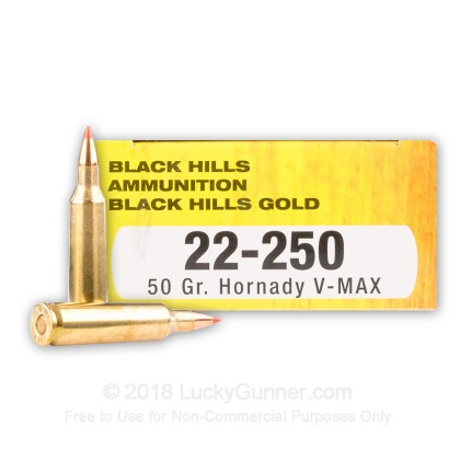 Image 1 of Black Hills Ammunition .22-250 Remington Ammo
