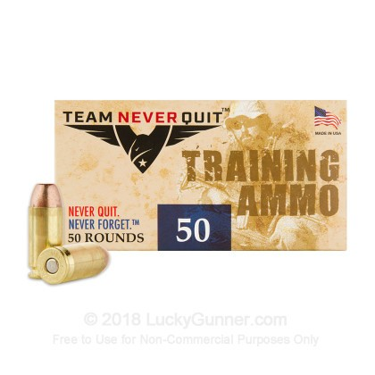 Image 1 of Team Never Quit .40 S&W (Smith & Wesson) Ammo