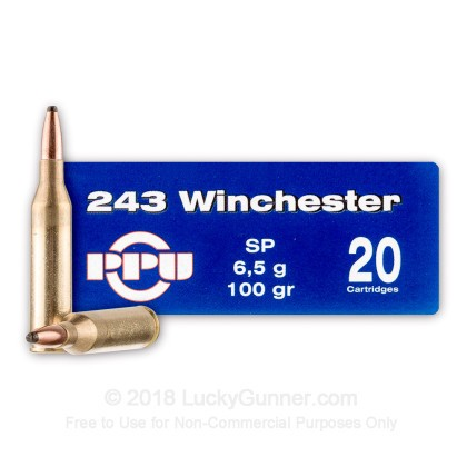 Large image of 243 Ammo For Sale - 100 gr SP - Prvi Partizan Ammo Online - 20 Rounds