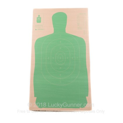 Large image of Champion Cardboard Silhouette LE Targets For Sale - Green B27 Targets In Stock