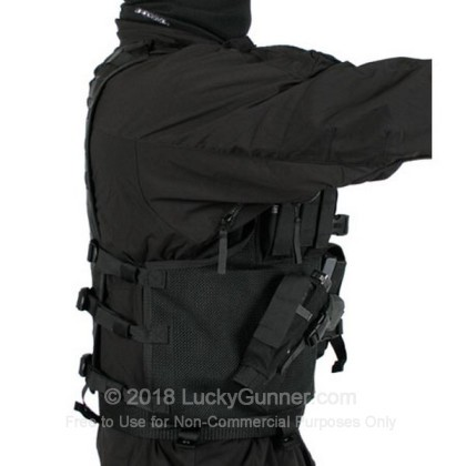 Large image of Tactical Vest - Omega Elite - Cross Draw - Pistol Mag Pouches - Left - Blackhawk - Black For Sale