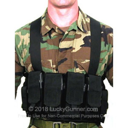 Large image of Chest Pouch - Magazine Carrier - M16/M4 - Blackhawk - Black For Sale