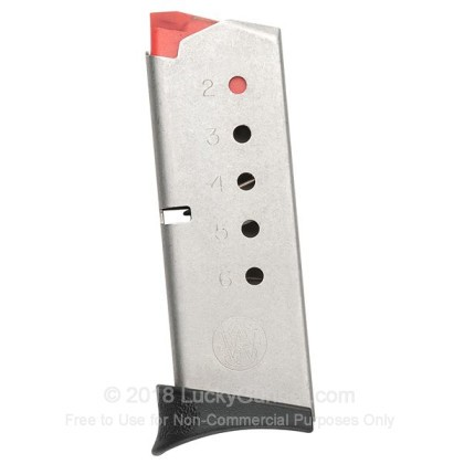 Large image of Factory Smith & Wesson Bodyguard 380 Auto 6 Round Magazine For Sale - 6 Rounds