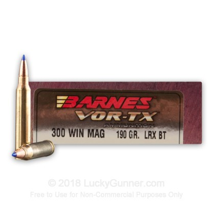 Image 1 of Barnes .300 Winchester Magnum Ammo