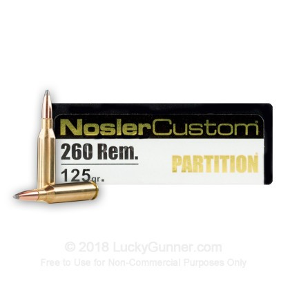 Image 1 of Nosler Ammunition .260 Remington Ammo