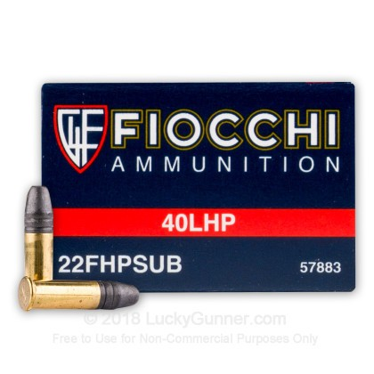 Image 1 of Fiocchi .22 Long Rifle (LR) Ammo
