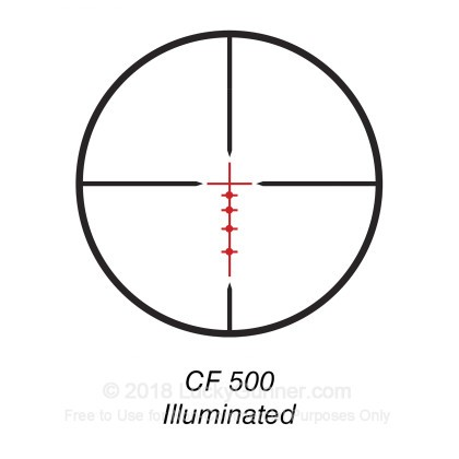 Large image of Rifle Scope For Sale - 4-16x - 40mm 714164B - Illuminated CF 500 Deer Hunting - Black Matte Bushnell Optics Rifle Scopes in Stock